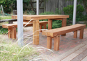 Solid timber patio furniture logo