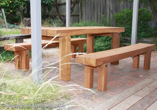 railway sleeper garden seat